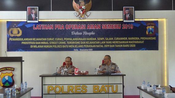 Gelar Lat Pra Ops Aman Semeru 2019 di Rupatama, maka secara sah Operasi tersebut mulai berlaku selama 7 hari ke depan