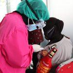 Anggota Polri di Polres Batu  dan Jajaran , Hari Ini Serentak Menerima Vaksinasi Covid-19
