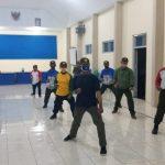 Pelatihan Linmas oleh Mentor KTS Iptu Fauzen dan Bhabinkamtibmas Ds. Tawangsari Bripka Arinda Yudha
