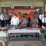 Polresta Banyuwangi Ungkap Senpi Rakitan dan Ringkus Empat Tersangka