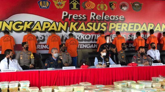 Polda Jatim Ambil Bagian Dalam Pengungkapan 2,5 Ton Sabu
