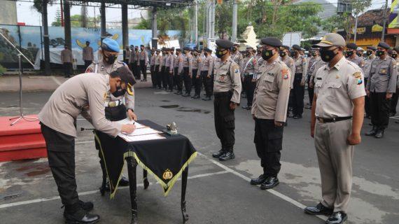 Komitmen Tidak Menyalahgunakan Narkoba, Anggota Polres Tulungagung Tanda Tangani Pakta Integritas