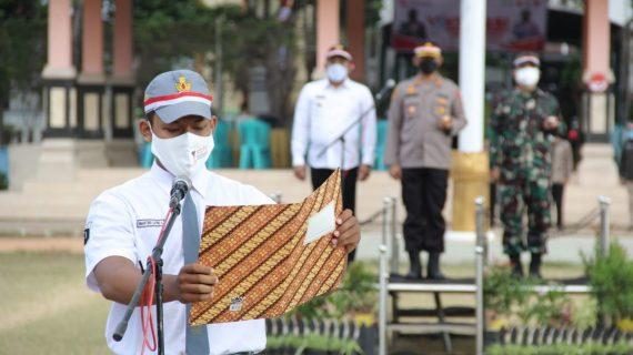 Forkopimda Sampang Pimpin Apel Deklarasi Pelajar Merdeka Lawan Covid-19 Di Kabupaten Sampang